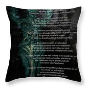 The Goddess Way Throw Pillow by Eva Thomas