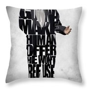 The Godfather Inspired Don Vito Corleone Typography Artwork Throw Pillow by Ayse Deniz