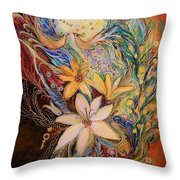 The Golan Heights Lilies Throw Pillow
