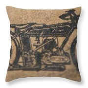The Gold Medal Motorcycle 1925 Throw Pillow
