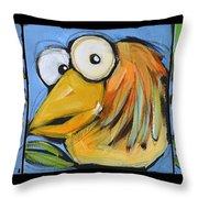 The Goldbird Trio Throw Pillow
