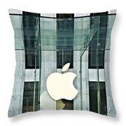 The Golden Apple Throw Pillow