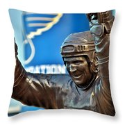 The Golden Brett Throw Pillow