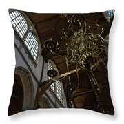 The Golden Chandelier  Throw Pillow