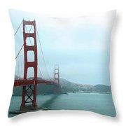 The Golden Gate Bridge And San Francisco Bay Throw Pillow