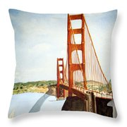 The Golden Gate Bridge Throw Pillow