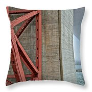 The Golden Gate - Fort Point View Throw Pillow