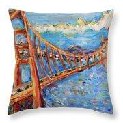 The Golden Gate Throw Pillow
