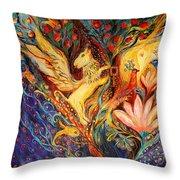 The Golden Griffin Throw Pillow by Elena Kotliarker