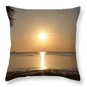 The Golden Gulf Coast Throw Pillow