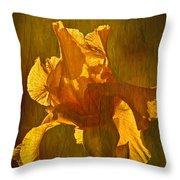 The Golden Iris Throw Pillow