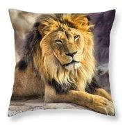 The Golden King 2 Throw Pillow