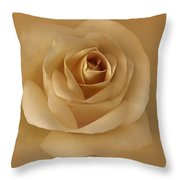 The Golden Rose Flower Throw Pillow