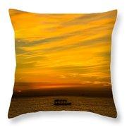 The Golden Sky That Mesmerize  Throw Pillow