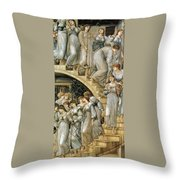 The Golden Stairs Throw Pillow