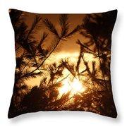 The Golden Sunset Throw Pillow