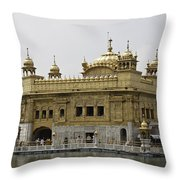 The Golden Temple In Amritsar Throw Pillow