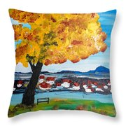 The Golden Tree Of Nish Throw Pillow