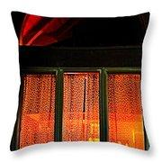 The Golden Window Throw Pillow