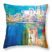 The Goldest Winter Throw Pillow