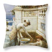 The Goldfish Pond Throw Pillow
