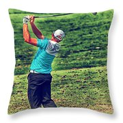 The Golf Swing Throw Pillow