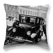 The Good Old Days Throw Pillow