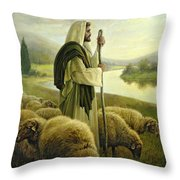 The Good Shepherd Throw Pillow