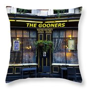 The Gooners Pub Throw Pillow