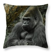 The Gorilla 3 Throw Pillow