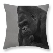 The Gorilla Throw Pillow