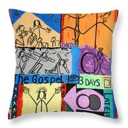 The Gospel Throw Pillow by Anthony Falbo