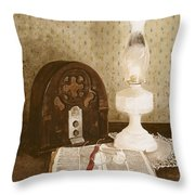 The Gospel Hour Throw Pillow by Monte Toon