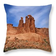 The Gossips A Nature's Beauty Throw Pillow