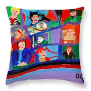 The Gotham Bunch Throw Pillow
