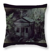 The Gothic Cemetery Throw Pillow