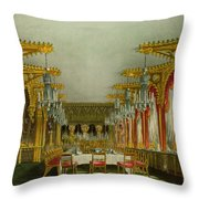 The Gothic Dining Room At Carlton House Throw Pillow