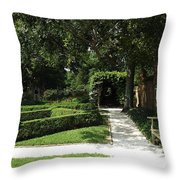 The Govenor's Gardens Throw Pillow