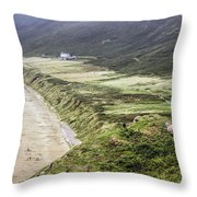The Gower-wales Throw Pillow