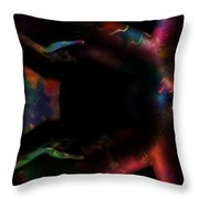 The Grabing Hands Throw Pillow
