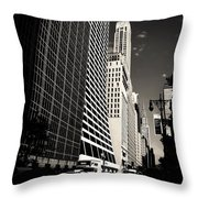 The Grace Building And The Chrysler Building - New York City Throw Pillow