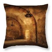 San Jose Mission Granary Throw Pillow