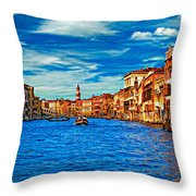 The Grand Canal Impasto Throw Pillow
