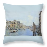 The Grand Canal With A View Of Palace Throw Pillow
