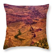 The Grand Canyon From Bright Angel Lodge Throw Pillow