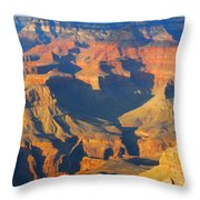 The Grand Canyon From Outer Space Throw Pillow