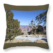 The Grand Canyon In January Throw Pillow