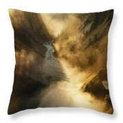 The Grand Canyon Of Yellowstone Throw Pillow