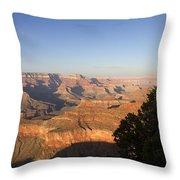 The Grand Canyon Towards Sunset Throw Pillow