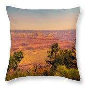 The Grand Canyon Vintage Americana Iv Throw Pillow
